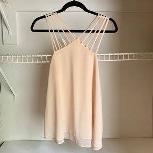 Nude Strappy Tank Top